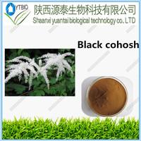 Free sample pure natural Black Cohosh Root P.E powder., Black Cohosh P.E. Cimicifugoside, Black Cohosh Root P.E. 20:1