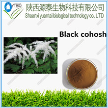 Free sample pure natural Black Cohosh Root P.E powder., Black Cohosh P.E. Cimicifugoside, Black Cohosh Root P.E. 20:1