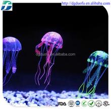 2015 aquarium fish food, decoration aquarium, silicone jellyfish