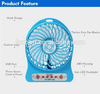 Lithium-ion battery 5V mini USB handy fans