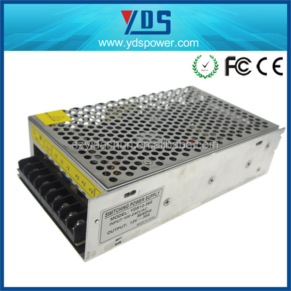 new products 2014 for high voltage switching power supply 360w 12v 30a high power for led / cctv power supply hot sale