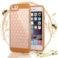 Wholesale price honeycomb pattern soft tpu cover case for iphone 6
