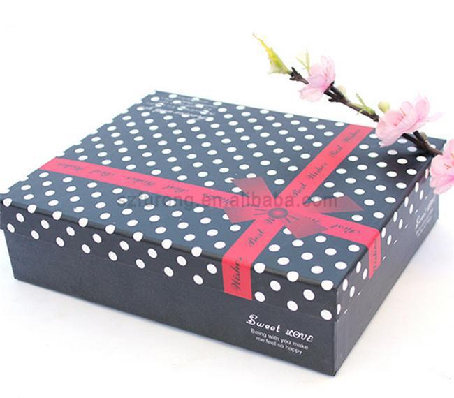 Модные роскошный подарок бумажная коробка для одежды складной одежда