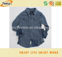 100pct cotton double layer indigo yarn dyed fashion shirting fabric