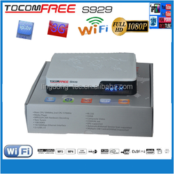 2015 Satellite receiver FTA original Tocomfree S929 with Iks and sks account inside for Chile
