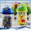 Transparent Flat Plastic Water Bottle
