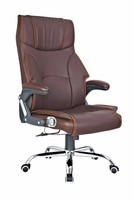 Metal chrome luxury office chair with head support