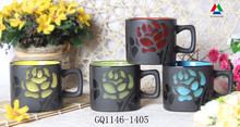New arrival matte coffee mug handpainted ceramic mug and handle