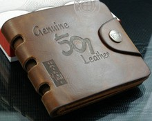 2014 New Product europe mens leather wallets