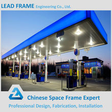Security and Reliable Light Steel Frame Gas Station Canopy