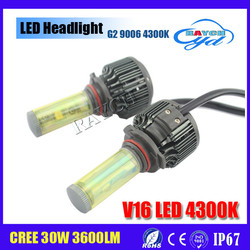 New Design Top Quality cob 30w 3600lm highpower highbright h4 led headlight