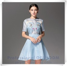 New design print dress Guangzhou clothing factory