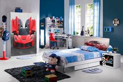 Modern Teens Bedroom furniture sets with ferrari cars Design ZW-B-826