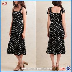 Alibaba express new design midi dress white dot in pictures formal black dresses summer women