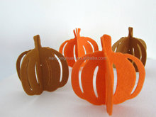 Felt pumpkin for Halloween decorations