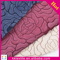 laser cuttin floral designs PU leather fabric lace