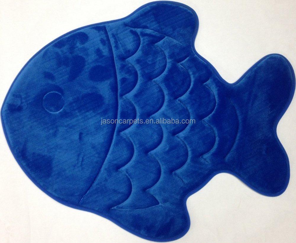 Forme de poisson tapis de bain tapis de salle de bain id de ...
