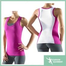 women core tank top sports running fitness breathable cross back vest