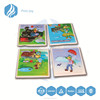 customized High quality 3D embossed fridge magnet/sticker