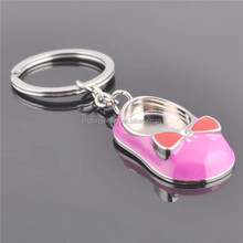High quality custom logo metal ballet dance shoe keychain
