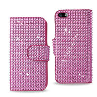Full Diamond Leather Case for iPhone 5,Popular Phone Case in Europe America Market
