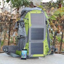 Hot selling Canvas solar powered bag for hiking/camping