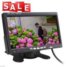 7 inch TFT LCD Color 2 Video Input Car RearView Headrest Monitor