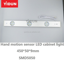 High brightness door contact sensor LED cabinet light with track