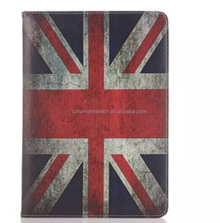 country flag & famous place hand strap stand leather case for ipad mini 2/3