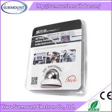 Novelty Swivel Black 360 degree Mini Magnetic Ball Car mount kit sticky mobile Cell phone Holder