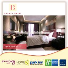 New Hazelnut Hotel Double Bed Furniture Wholesale Bedroom Set