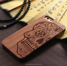 Custom Wooden wood for iphone ! Walnut Rosewood Maple Bamboo Cherry, Black Hard PC, wood+ PC case for iphone6 / 6 plus