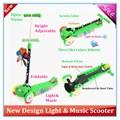 2015 yeni tasarımlar üç tekerlekli kick scooter müzik ve ışık