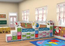 Móveis para o berçário usado, prateleiras de madeira para crianças, armário para guardar brinquedos, infantário móveis