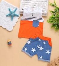 Z75427A 2015 summer korean fashion star appliqued kids boy clothings