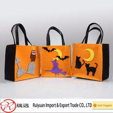 2015 Hot Sale Custom Pattern Halloween Tote Bag For Promotion