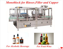 30-24-8 automatic bottle washing filling capping machine
