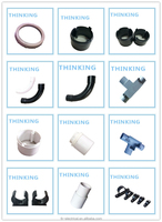 HOT sales Plastic Pipe Fitting PVC Double Bellmouth 90 Degree Bend with high quality