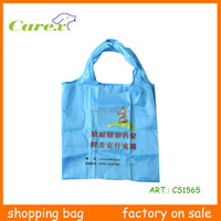 2015 Wholesable Reusable Recycle Polyester Shopping Bag For Promotion