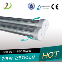 Equal to same Lamp 55W 4pin PLL LED Fluorescent Lamp Lighting 2G11 360 degree with 3 years warranty