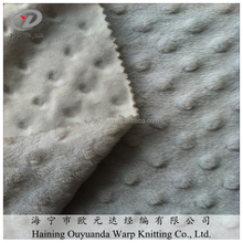 Super soft minky dot velboa blanket polyester fabric is popular in poland