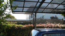 Aluminium Frame Material and Garages, Canopies & Carports Type Car Rain Shelter