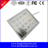 New arrival! Panel mounted metal keypad with 4*4 flush keys