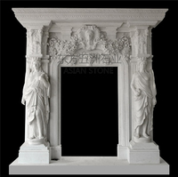 Marble Fireplace Surround,White Marble Fireplace Mantel hand carved fireplace