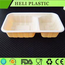 Plástico takeaway recipiente de alimento