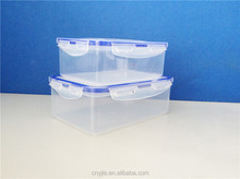 Fashional Clear Plastic Transparency Lunch Box with lock
