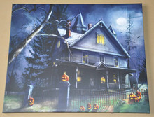 Halloween decor alibaba express scary night pumpkin lanterns canvas printing art with led lights