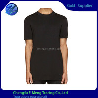 Plain Black Mens Top Quality Soft Cotton Quick Dry Sport Wear