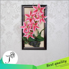 2015 JY high quality cheap price buautiful six heads artificial lily flower for wall
