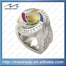 custom fashion latest brass stainless steel silver metal diamond rings